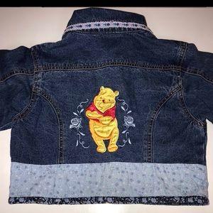EUC Girls DISNEY Winnie the Pooh Denim Jacket-6/6X